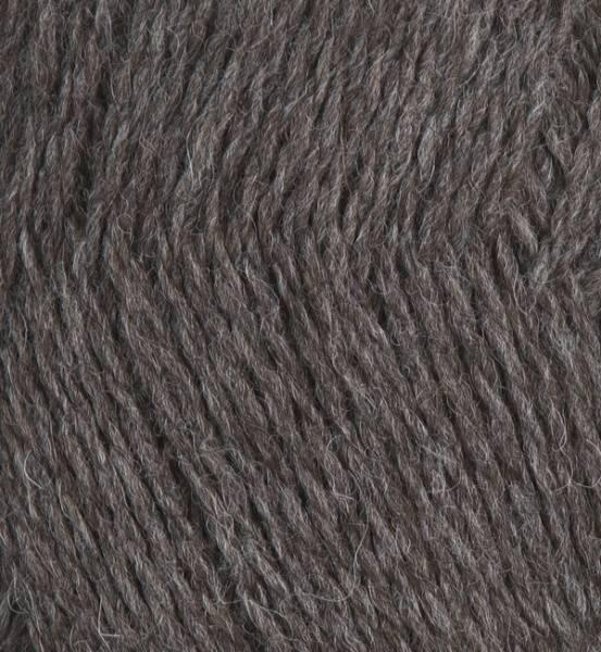 Eco Highland Wool varm mørk grå (brun) EW006