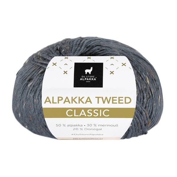 Alpakka Tweed Classic 129 Mørk gråblå
